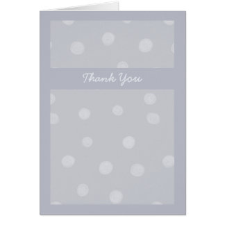 Painted Dots silvery gray Wedding Thank You Card