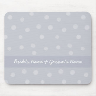 Painted Dots silvery grey Wedding Mousepad