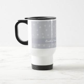 Painted Dots silvery grey Wedding Travel Mug