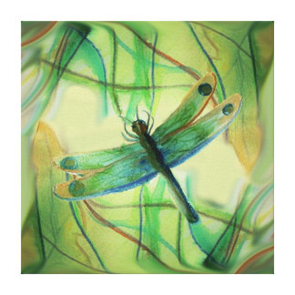 Painted dragonfly Wrapped Canvas