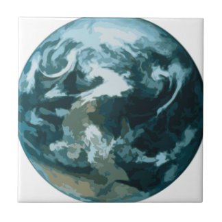 Painted Earth Ceramic Tile