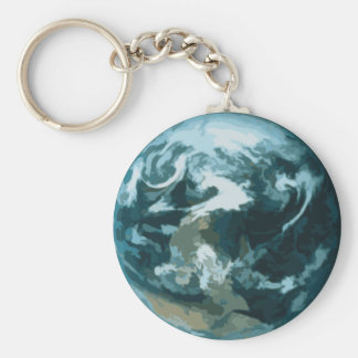 Painted Earth Keychain
