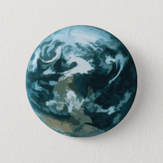 Painted Earth Pinback Button