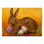 painted easter bunny card