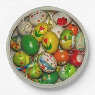 Painted Easter Eggs Bowl Disposable Paper Plates