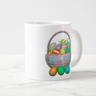 Painted Easter Eggs in Basket Giant Coffee Mug