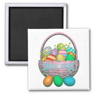 Painted Easter Eggs in Basket Magnet