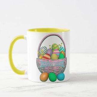 Painted Easter Eggs in Basket Mug