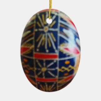 Painted Egg 2 Ceramic Ornament