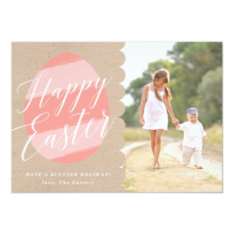 Painted Egg Photo Easter Card