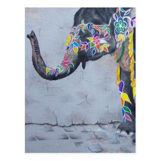 Painted Elephant Postcard