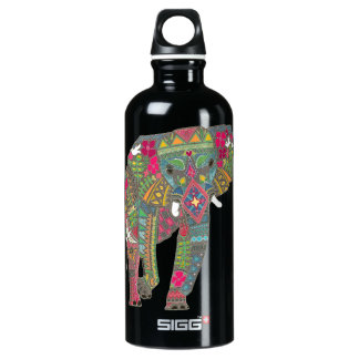painted elephant water bottle