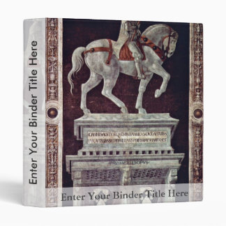 Painted Equestrian Statue Of Giovanni Acuto 3 Ring Binder