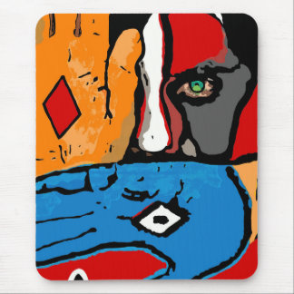 Painted face Mousepad