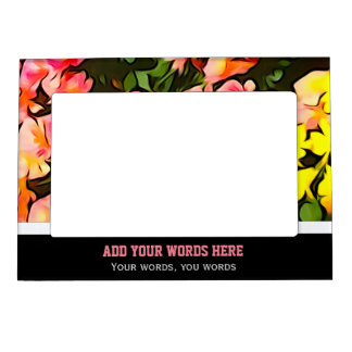Painted Fall Flower Personalized Magnet Frame