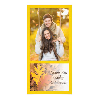 Painted Fall Leaves Thank You Card