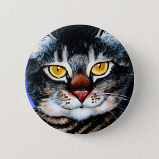 Painted Fat Cat Button