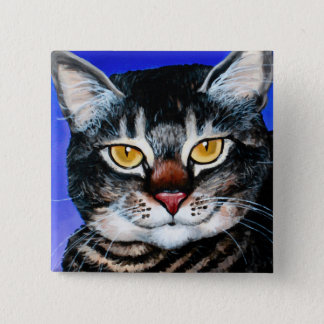 Painted Fat Cat Pinback Button