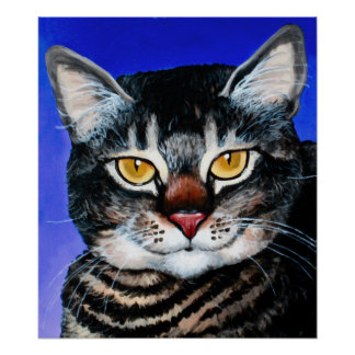 Painted Fat Cat Poster