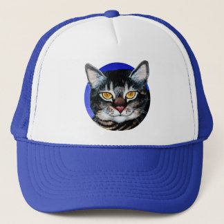 Painted Fat Cat Trucker Hat