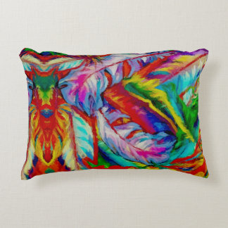 Painted  Feathers Accent Pillow