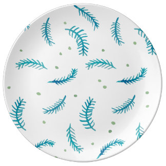 "Painted Ferns 10.75"" Porcelain Plate"
