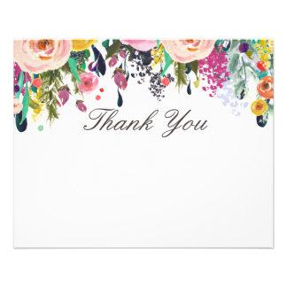 Painted Floral Beauty Salon Thank You Flyer
