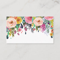 Painted Floral Blank Wedding Table Place Cards. Place Card