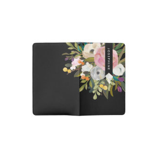 Painted Floral Blooms Personalized Moleskine Cover Pocket Moleskine Notebook