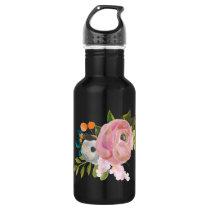Painted Floral Custom Color Waterbottle Stainless Steel Water Bottle