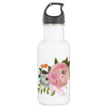 Painted Floral Custom Color Waterbottle Water Bottle