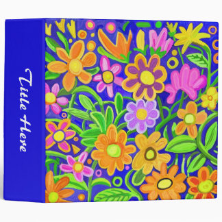 Painted Floral Design (2in ring) Binder