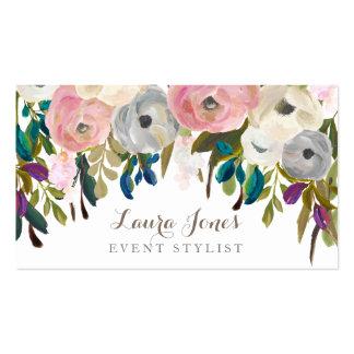 Painted Floral Florist Stylist Business Cards