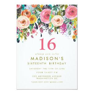 girls sweet 16 invitations zazzle