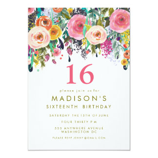 16th birthday invitations & announcements | zazzle, Birthday invitations