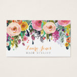 Painted Floral Hair Stylist Appointment Cards<br><div class='desc'>Gorgeous bright spring acrylic hand painted floral background... so soft and feminine and beautiful! modern but vintage style, chic, stylish, stylist business card, appointment card template that you can personalize easily yourself here and now online and have them delivered to your door! Gorgeous quality printing To personalize with your own...</div>