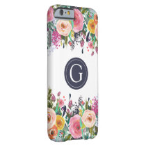 Painted Floral Monogram Iphone 6 Case