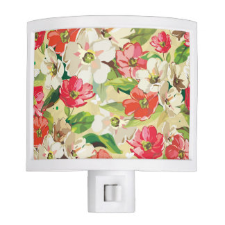 Painted Floral Night Light