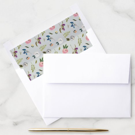 Painted Floral Pattern Envelope Liner