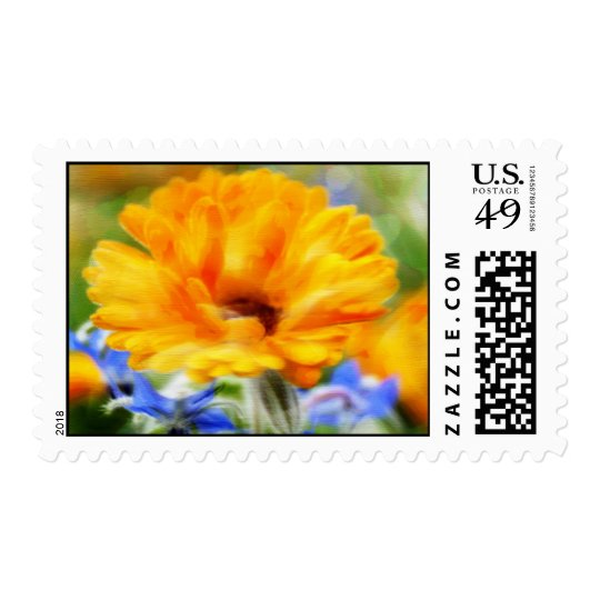 Painted Floral Stamp