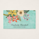 Painted Florals Business Card at Zazzle