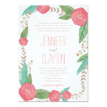 Painted Florals Wedding Invitations Personalized Invitation