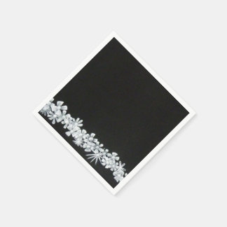 Painted Flower Boarder Napkins