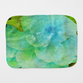 Painted Flower by Shirley Taylor Burp Cloth