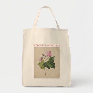 Painted Flower Grocery Tote Grocery Tote Bag