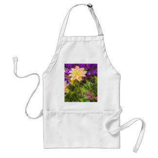 Painted Flowers Adult Apron