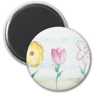 Painted Flowers Art Magnet