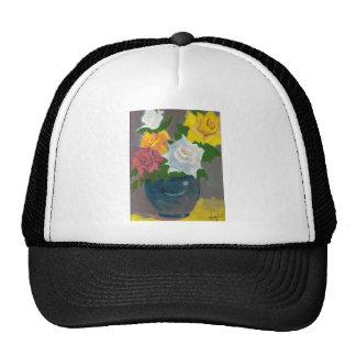 Painted Flowers in Vase Trucker Hat