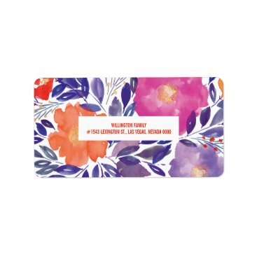 Beach Themed painted flowers label