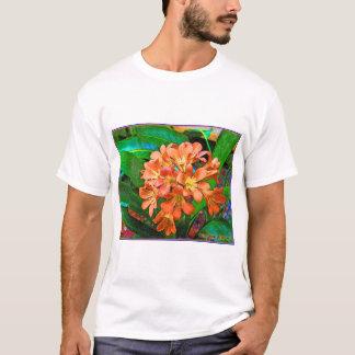 """Painted Flowers"" Ladies Tonal Stripe T-Shirt"